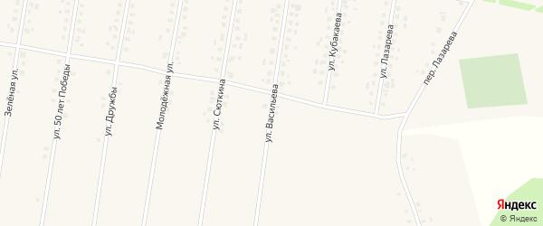 Улица Васильева на карте села Калтасов с номерами домов