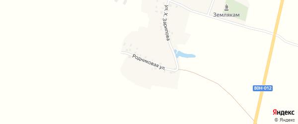 Родниковая улица на карте села Каргалы с номерами домов