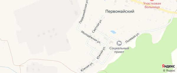 Молодежная улица на карте села Первомайского с номерами домов