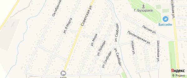 Улица Мира на карте села Киргиза-Мияки с номерами домов