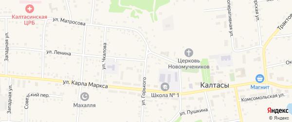 Улица Ленина на карте села Калтасов с номерами домов