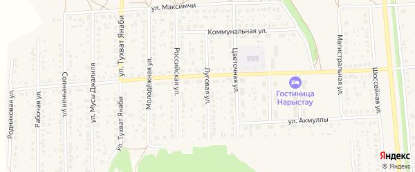 Луговая улица на карте села Киргиза-Мияки с номерами домов