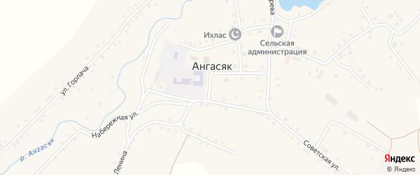 Улица Чиглинцева на карте села Ангасяка с номерами домов