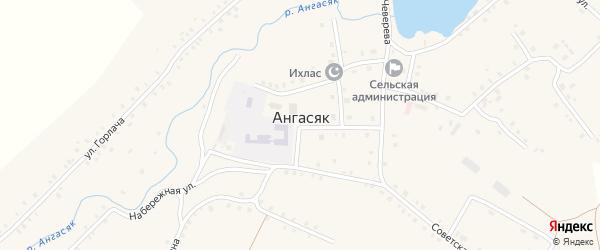 Улица Боровушка на карте села Ангасяка с номерами домов