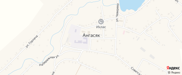 Лесная улица на карте села Ангасяка с номерами домов