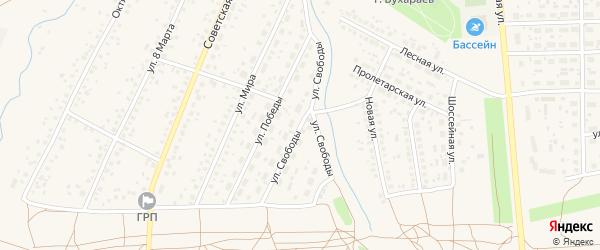 Улица Свободы на карте села Киргиза-Мияки с номерами домов