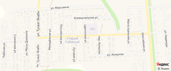 Школьная улица на карте села Киргиза-Мияки с номерами домов
