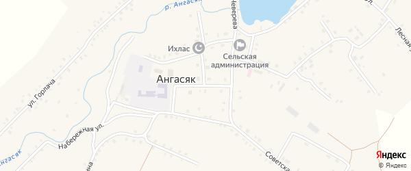 Улица Чеверева на карте села Ангасяка с номерами домов
