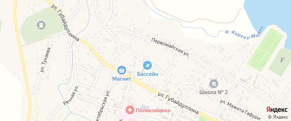 Пионерская улица на карте села Киргиза-Мияки с номерами домов