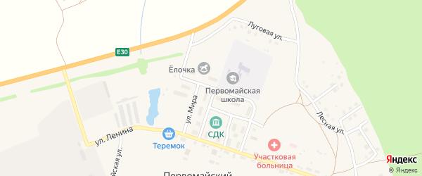 Улица Победы на карте села Первомайского с номерами домов