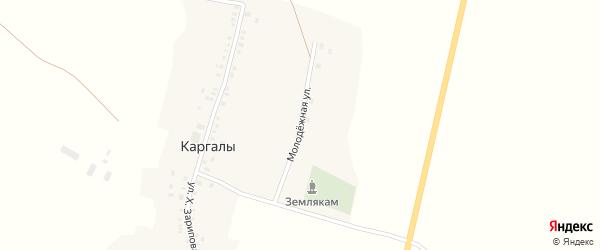 Молодежная улица на карте села Каргалы с номерами домов