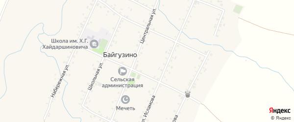 Улица Им С.Ягафарова на карте села Байгузино с номерами домов
