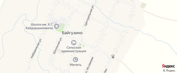 Центральная улица на карте села Байгузино с номерами домов