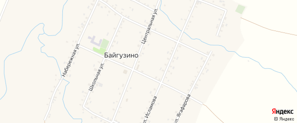 Улица Им Ф.Исламова на карте села Байгузино с номерами домов