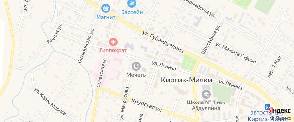 Улица Ленина на карте села Киргиза-Мияки с номерами домов