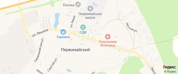 Цветочная улица на карте села Первомайского с номерами домов