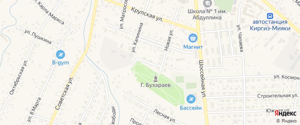 Юбилейная улица на карте села Киргиза-Мияки с номерами домов