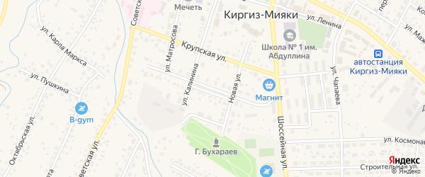 Спортивная улица на карте села Киргиза-Мияки с номерами домов