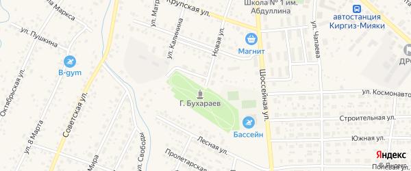 Новая улица на карте села Киргиза-Мияки с номерами домов