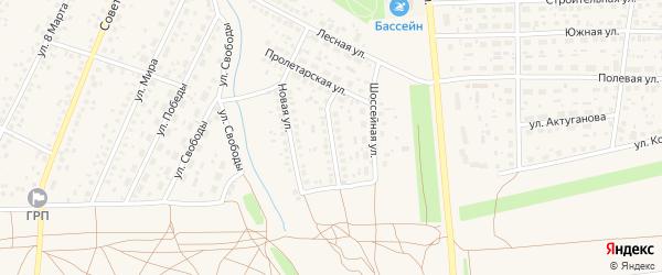 Высоковольтная улица на карте села Киргиза-Мияки с номерами домов