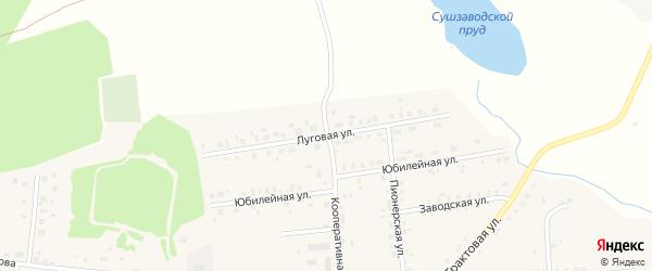 Луговая улица на карте села Калтасов с номерами домов