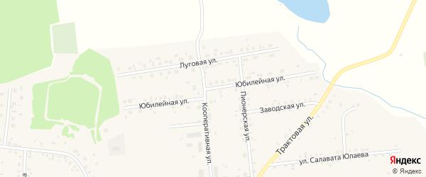 Юбилейная улица на карте села Калтасов с номерами домов