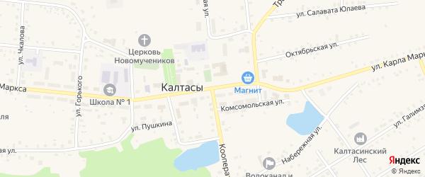 Кооперативная улица на карте села Калтасов с номерами домов
