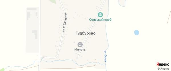 Улица Р.Табарова на карте деревни Гудбурово с номерами домов