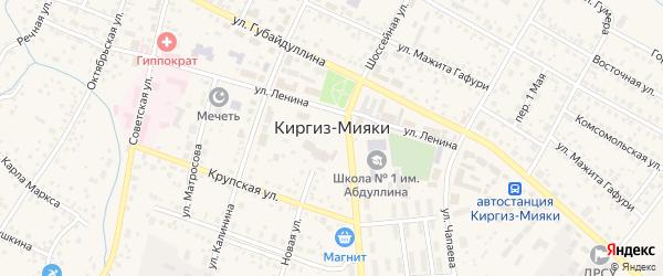 Переулок 1 Мая на карте села Киргиза-Мияки с номерами домов