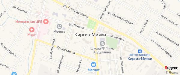 Улица Г.Гумера на карте села Киргиза-Мияки с номерами домов