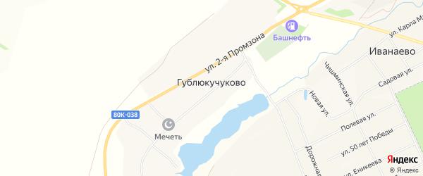 Карта села Гублюкучуково в Башкортостане с улицами и номерами домов