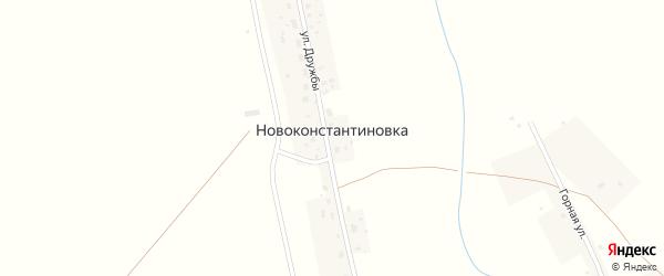 Улица Дружбы на карте села Новоконстантиновки с номерами домов