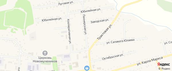 Пионерская улица на карте села Калтасов с номерами домов