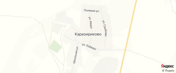 Карта села Каразириково в Башкортостане с улицами и номерами домов