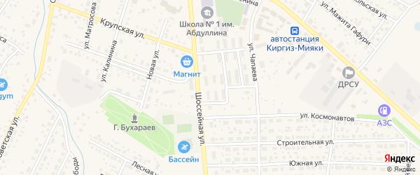 Улица Гагарина на карте села Киргиза-Мияки с номерами домов