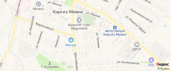 Улица Комарова на карте села Киргиза-Мияки с номерами домов