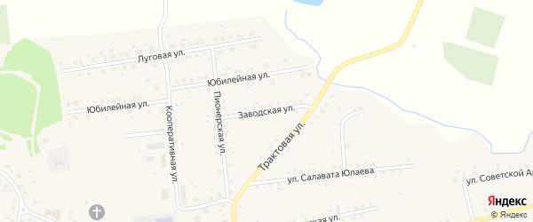 Заводская улица на карте села Калтасов с номерами домов