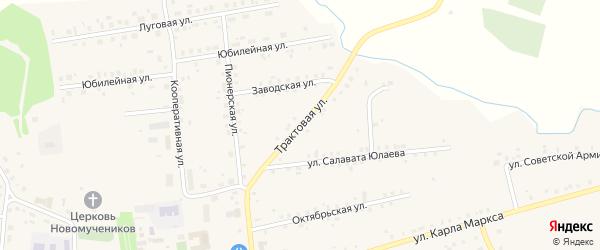 Трактовая улица на карте села Калтасов с номерами домов