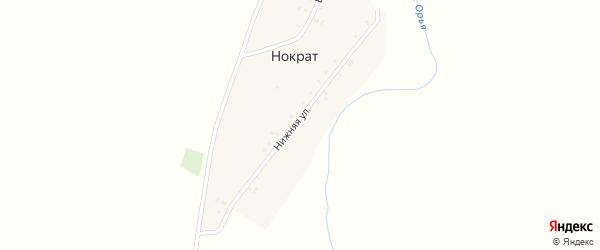 Нижняя улица на карте деревни Нократа с номерами домов