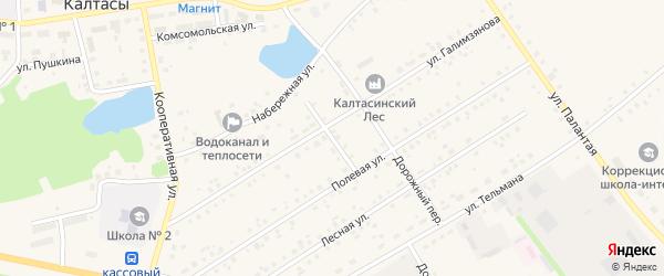 Переулок Галимзянова на карте села Калтасов с номерами домов