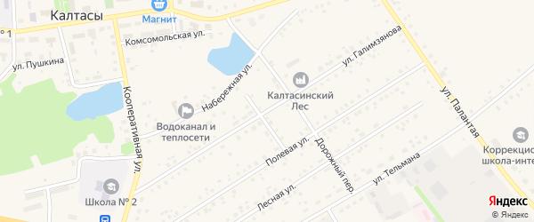 Улица Галимзянова на карте села Калтасов с номерами домов