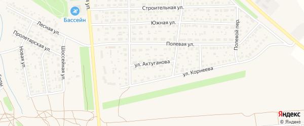 Улица Актуганова на карте села Киргиза-Мияки с номерами домов
