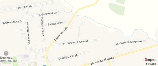 Восточная улица на карте села Калтасов с номерами домов