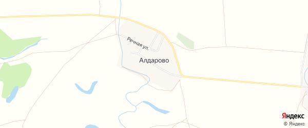 Карта деревни Алдарово в Башкортостане с улицами и номерами домов