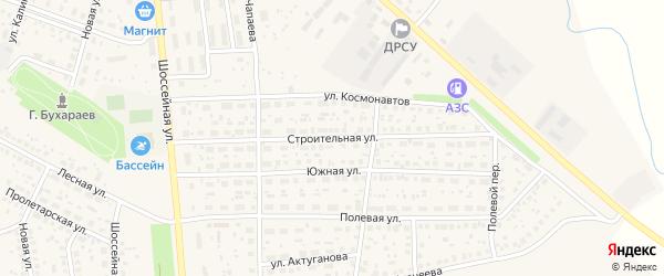 Строительная улица на карте села Киргиза-Мияки с номерами домов