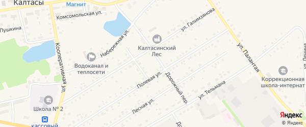 Улица Сюткина на карте села Калтасов с номерами домов