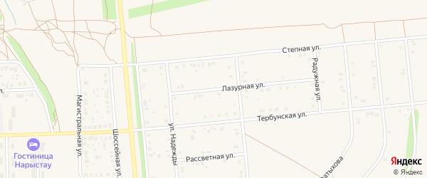 Тербунская улица на карте села Киргиза-Мияки с номерами домов