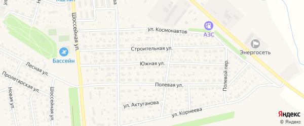 Южная улица на карте села Киргиза-Мияки с номерами домов