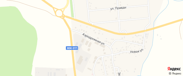 Аэродромная улица на карте села Родниковки с номерами домов