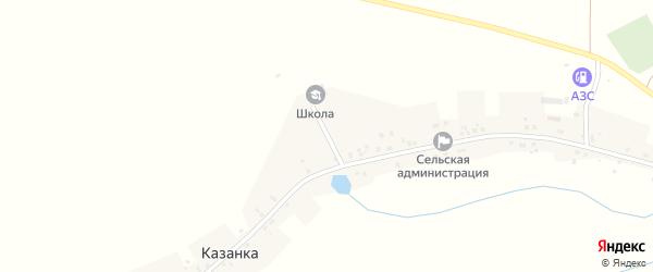 Школьный переулок на карте села Казанки с номерами домов